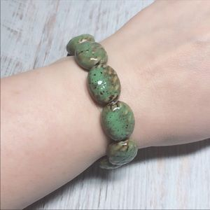 Earthbound Stone Laquer Bracelet Stretch